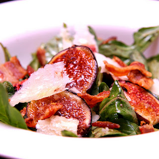 Fresh Fig, Arugula, and Bacon Salad