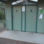 Two toilets include access for people in wheelchairs