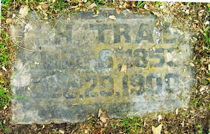 TRAIL_Isaac H_headstone_1900_HighlandLawnCem_TerreHauteVigoIndiana