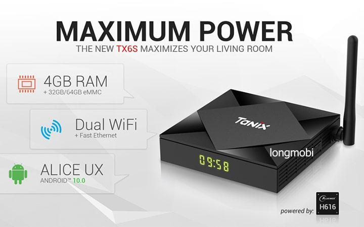 tanix tx6s tv box ram 4gb
