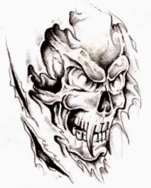 Skull Tattoos  Grim Reaper Tattoos  Deer Sugar Bull Skull
