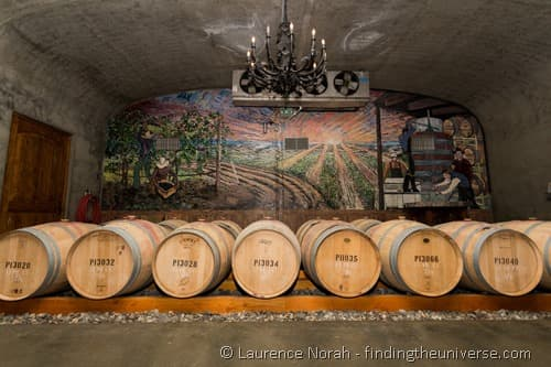 Pepperbridge Winery Cellars barrels Walla Walla