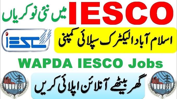 WAPDA IESCO Jobs 2021 Apply Online