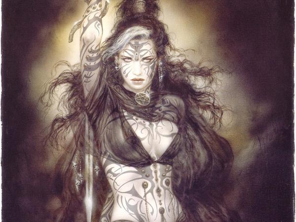 Elegant Tattoed Girl, Warrior Girls 1