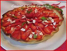 Tarte aux fraises creme basilic et citron vert