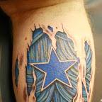 blue star - Star Tattoos