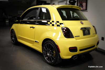 Fiat 500 Stinger rear quarter view