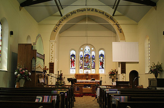 St Mark's Anglican Church, Pontville : interior [photograph by Trevor Bunning (2009)]