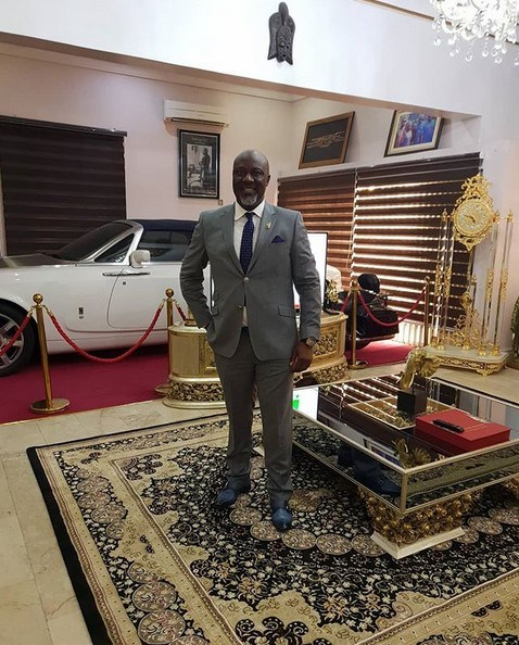Dino Melaye's Rolls Royce Phantom Parked In His Living Room