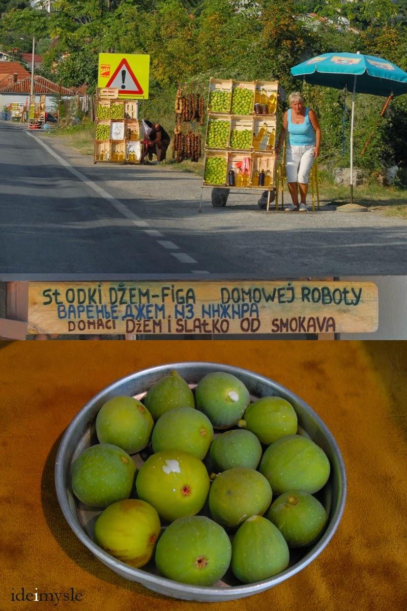 dzikie figowce, świeże i suszone figi, przydrożne stragany, bałkańskie targowiska, dżem figowy