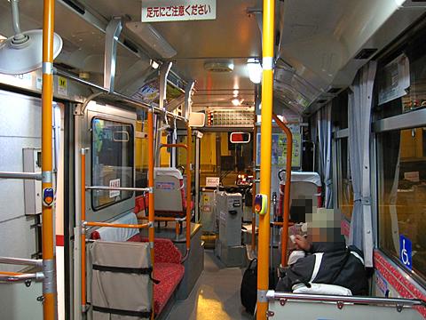 北紋バス 名寄本線代替バス ・189 車内