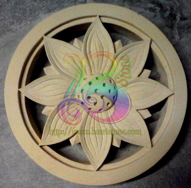 Roster batu alam motif bunga matahari