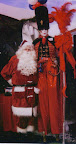 Toy Soldier on Stilts with Santa