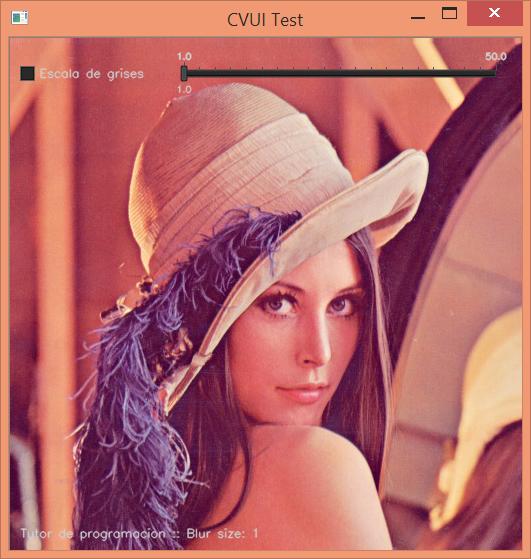 CVUI en Imagen OpenCV