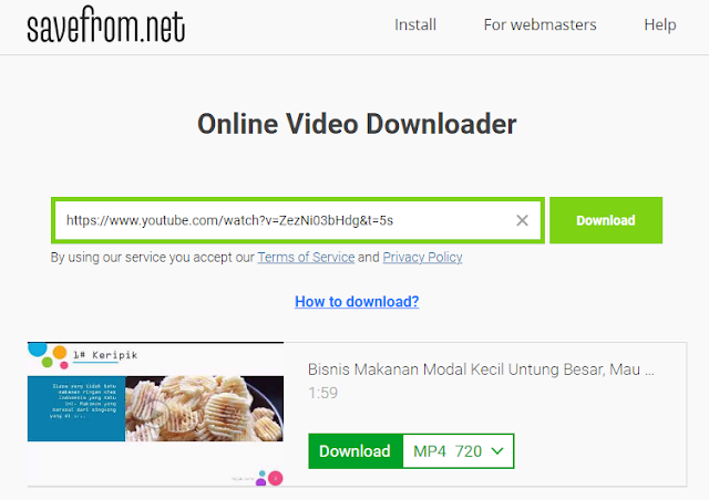 Download Video YouTube Savefrom.net