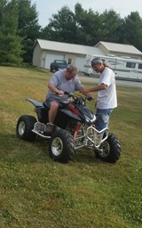 Riding ATVs at Tim Hurley's (5)