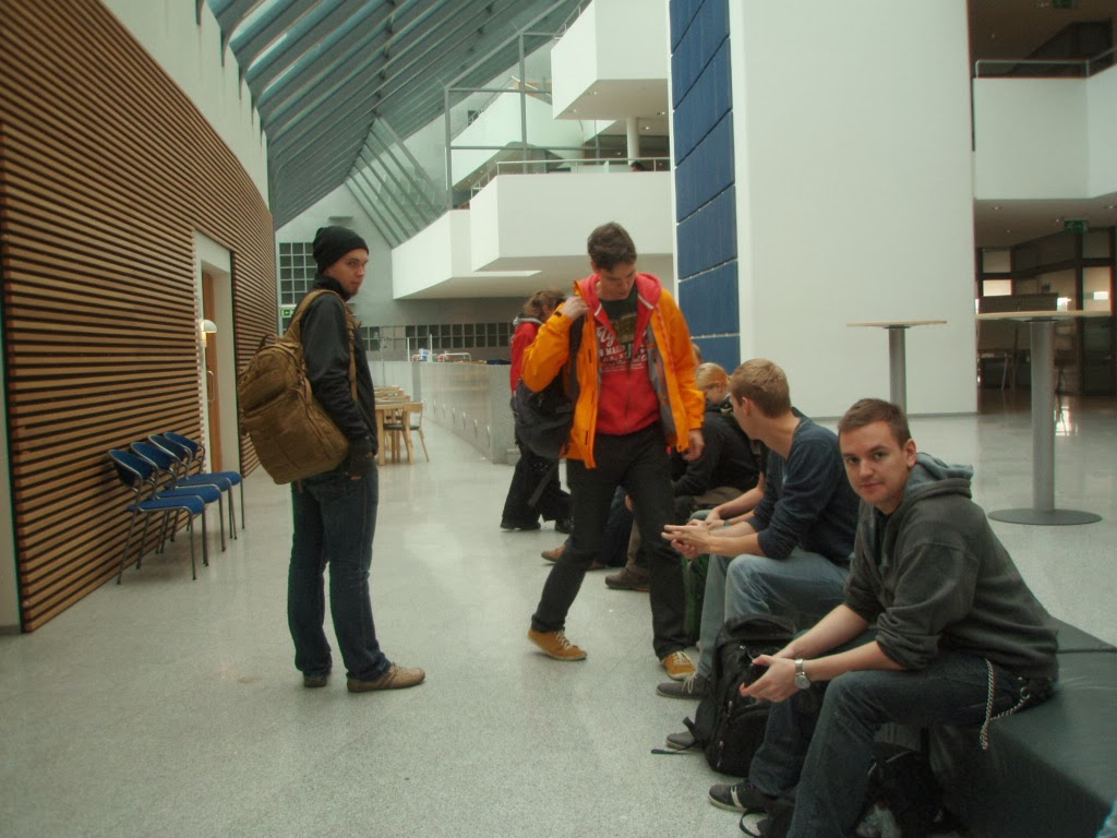 2.9.2013 Beginning of the Excursion, day 1. Haskoli Island, Askja building. University of Iceland.