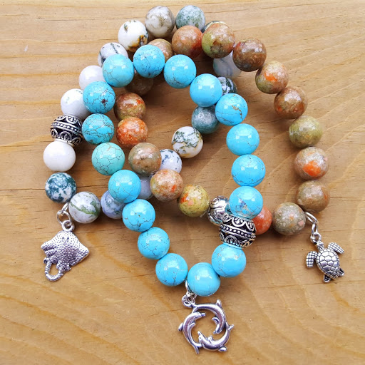 My marine life bracelets from the Fair Trade Boutique at Green Global Travel