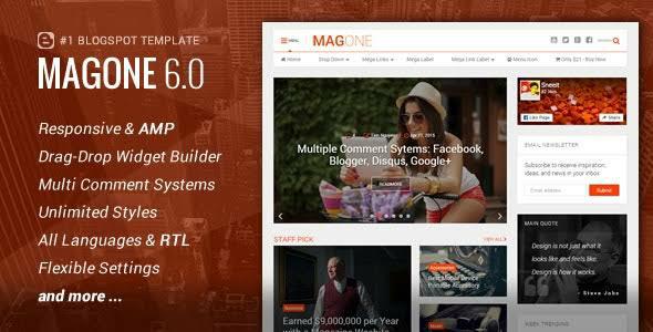 ২৩ ডলার মূল্যের অসাধারন MagOne Premium Blogger Templates ডাউনলোড করে নিন [Adsense & SEO Friendly]