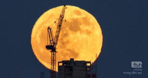 Bộ ảnh Mặt Trăng tròn đầu tiên của năm 2018