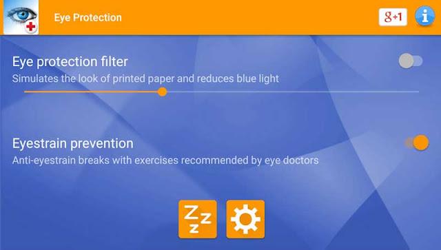 برنامج حماية العين من أشعة الهاتف الضارة على اندرويد