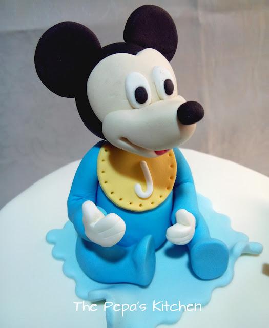 Ideas para tarta fondant Mickey Mouse Baby