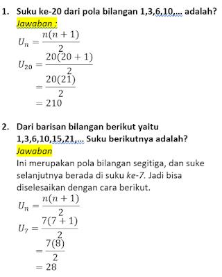 contoh soal dan pembahasan pola bilangan segitiga