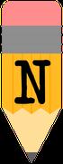 Pencil-alphabet-Banner-N