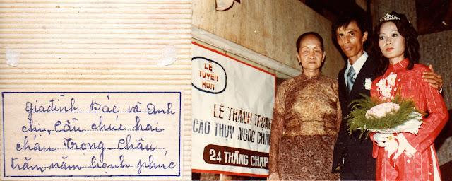 Mẹ của NV Hoàng tại đám cưới Trọng&Châu
