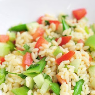 Orzo Salad With Vegetables and Herbs