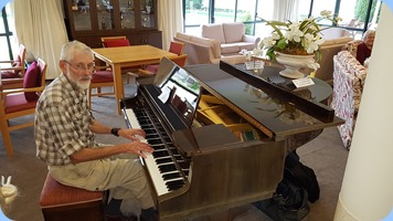 Errol Storey wound the day up playing the Schimmel grand piano.