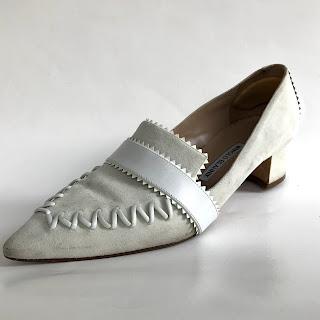Manolo Blahnik Whip Stitch Loafers