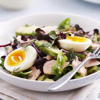 Salmon, Avocado and Egg Salad
