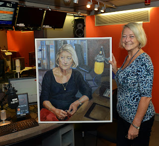 Kate Adie with my portrait of her