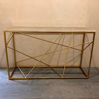 Lucite Topped Console Table
