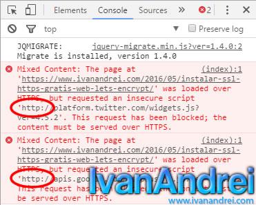 HTTPS en Wordpres (Herramientas para desarrolladores en Chrome)
