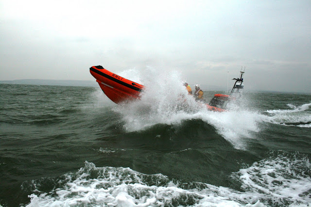 12 June 2011 - Poole's Atlantic 85 B class inshore lifeboat 'Sgt Bob Martin (Civil Service No. 50)' during rough weather training exercise