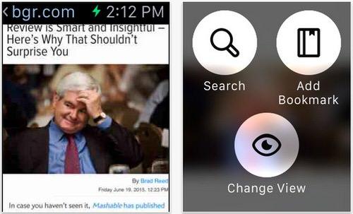 Apple Watchがブラウザに