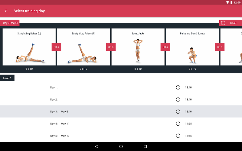 Runtastic Leg Trainer - Workouts & Exercises Screenshot 9