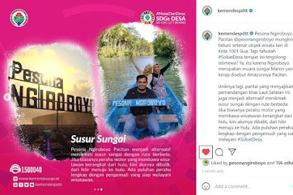 Mantab, Kemendes Bantu Promosikan Ngiroboyo Melalui Instagram.
