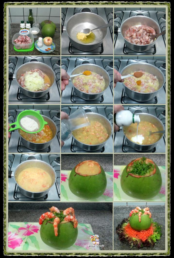 Camarão no coco verde 3