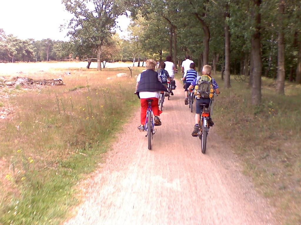 Lekker fietsen door het bos