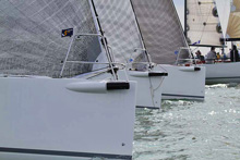 J's sailing off starting line