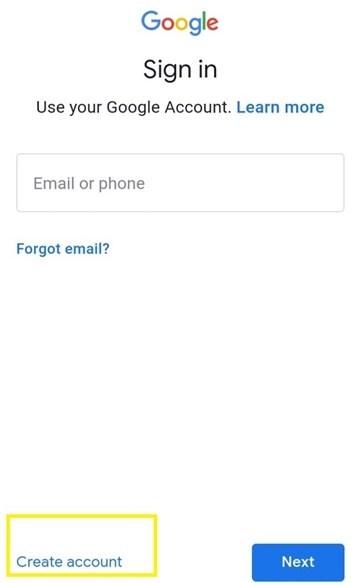 انشاء حساب جيميل بدون رقم هاتف