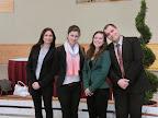 naše mladé rozhodkyne (Valika Sabolová, Tereza Kočišová, Denisa Beláková) a maďarský rozhodca Benedek Tóth