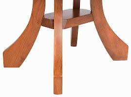 54″ x 30″ Rio Round Dining Table in Cascadia Cherry, Leg Detail