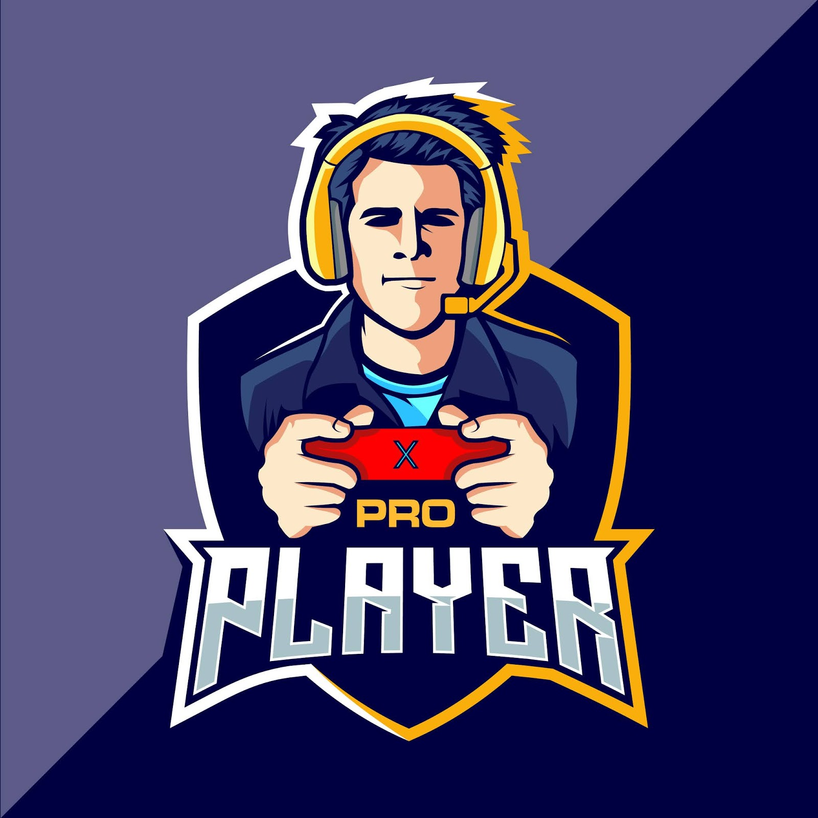 Pro Player Esport Game Logo Cool Free Download Vector CDR, AI, EPS and PNG Formats