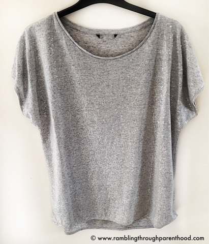 Grey Sequin T-shirt from elesclothing.co.uk