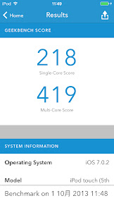 iPod touch 5G iOS7 Benchmark CPU 05 Geekbench3