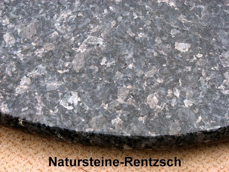 Runde tischplatte naturstein labrador blue pearl for Marmor tischplatte rund